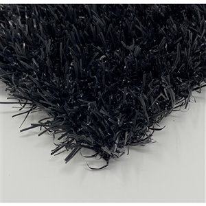 Tapis de gazon artificiel Diamond+ de Trylawnturf, 20 pi x 6,6 pi, noir