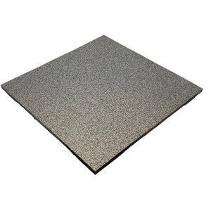 RubberMax Tile Multipurpose Flooring - 19.75-in x 19.75-in - Grey/Black