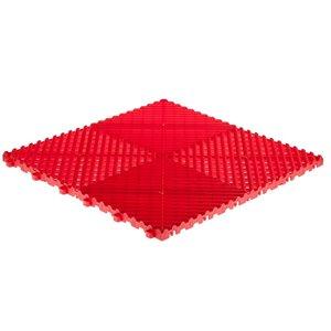 Tuile de plancher pour garage CarTrax Rib par SwissTrax, 15,75 po x 15,75 po, rouge, 6 pièces