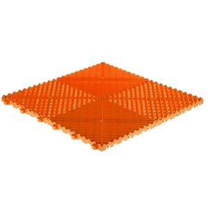 Tuile de plancher pour garage CarTrax Rib par SwissTrax, 15,75 po x 15,75 po, orange, 6 pièces