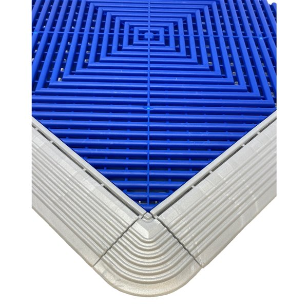 CarTrax Garage Floor Corner - 2.5-in x 2.5-in - Pearl Silver - 4-Pack