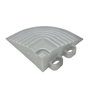 CarTrax Garage Floor Corner - 2.5-in x 2.5-in - Pearl Silver - 4-Pack