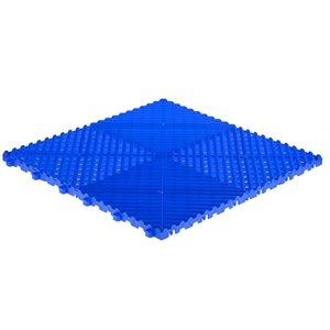 SwissTrax CarTrax Rib Garage Floor Tile - 15.75-in x 15.75-in - Royal Blue - 24-Piece