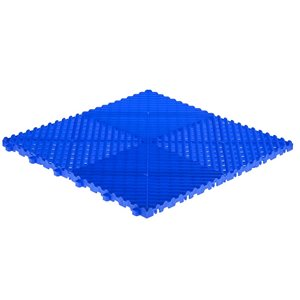 SwissTrax CarTrax Rib Garage Floor Tile - 15.75-in x 15.75-in - Royal Blue - 6-Piece