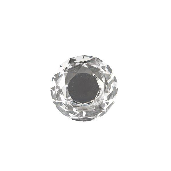 Bouton contemporain conique Bolzano de Richelieu, 1,97 po, chrome/transparent