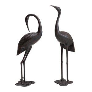 Sunjoy Cecil Cast Aluminum Decorative Garden Crane Set - 43.31-in - Bronze - 2-Piece