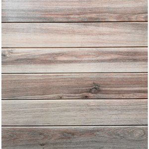 Dundee Deco Falkirk Jura II Peel and Stick 3D Wall Panel - Faux Planks - 28-in x 28-in - Beige and Pale Auburn - 5-Pack