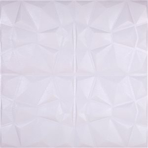 Dundee Deco Falkirk Jura II Peel and Stick 3D Wall Panel - Diamonds - 28-in x 28-in - Off-White - 10-Pack