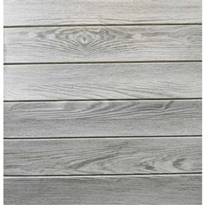 Dundee Deco Falkirk Jura II Peel and Stick 3D Wall Panel - Faux Planks - 28-in x 28-in - Grey - 10-Pack