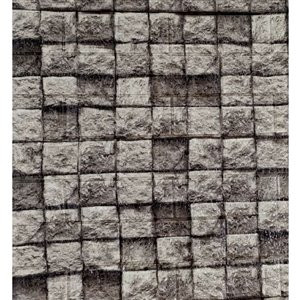 Dundee Deco Falkirk Jura II Peel and Stick 3D Wall Panel - Cubes - 28-in x 30-in - Charcoal Grey