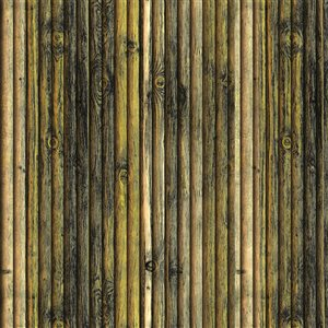 Dundee Deco Falkirk Jura II Peel and Stick 3D Wall Panel - Faux Wood - 28-in x 28-in - Charcoal/Beige/Yellow - 10-Pack
