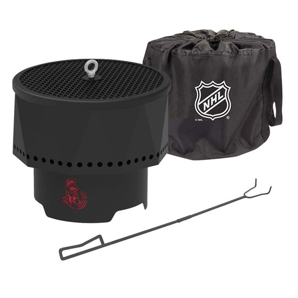 Blue Sky NHL Ottawa Senators Patio Portable Fire Pit - Round - Steel - 16-in x 12.5-in - Black