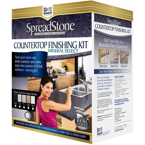 Spreadstone Mineral Select Countertop Finishing Kit - 40-sq. ft. - Volcanic Black