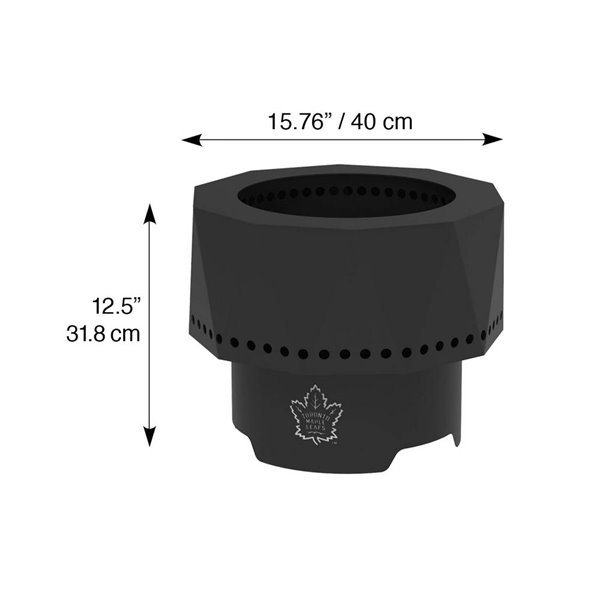 Blue Sky NHL Toronto Maple Leafs Patio Portable Fire Pit - Round - Steel - 16-in x 12.5-in - Black