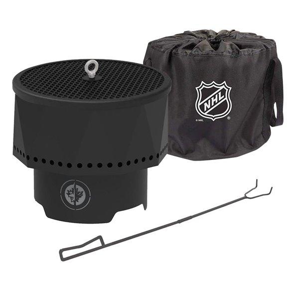 Blue Sky NHL Winnipeg Jets Patio Portable Fire Pit - Round - Steel - 16-in x 12.5-in - Black