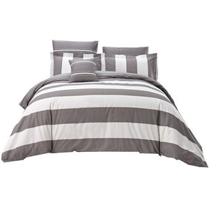 North Home Melody Queen Duvet Cover Set - 7-Piece