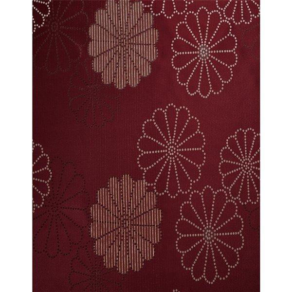 Panneau de rideau simple passe-pôle Rolea par North Home, 96 po, bourgogne