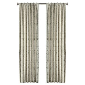 North Home Ivy Single Curtain Panel - Rod Pocket - 96-in - Taupe