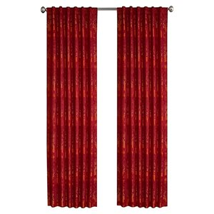 North Home Spencer Single Curtain Panel - Rod Pocket - 96-in - Burgundy