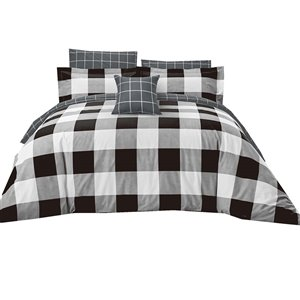 North Home Dynasty Queen Duvet Cover Set - 4-Piece