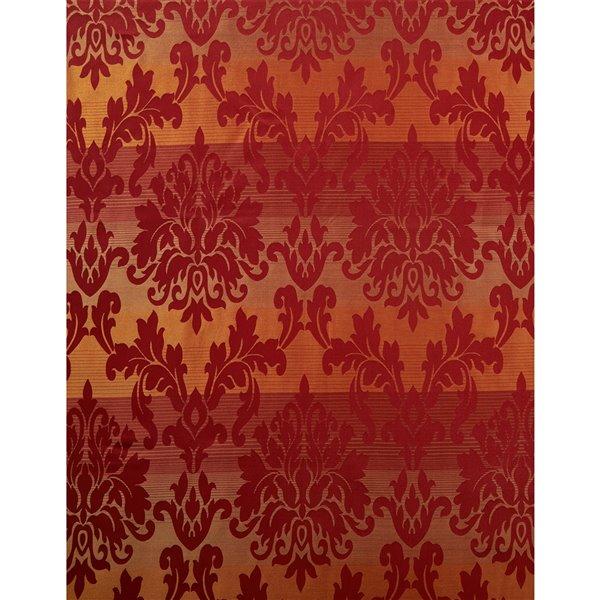 Panneau de rideau simple à anneaux Spencer par North Home, 96 po, bourgogne