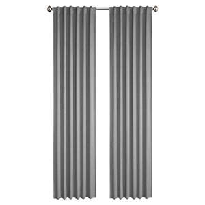 North Home Princeton Single Curtain Panel - Rod Pocket - 96-in - Silver Grey