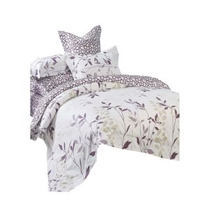 Ensemble de housse de couette Iris de North Home pour très grand lit, 4 pièces