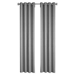 Panneau de rideau simple à anneaux Princeton par North Home, 96 po, gris argenté