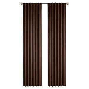 Panneau de rideau simple passe-pôle Princeton par North Home, 96 po, brun