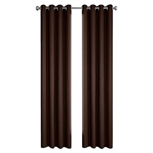 North Home Princeton Single Curtain Panel - Grommet - 96-in - Brown