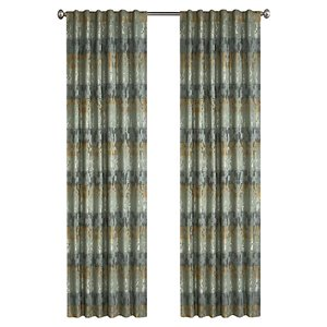 North Home Spencer Single Curtain Panel - Rod Pocket - 96-in - Basil Green