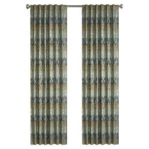 Panneau de rideau simple passe-pôle Spencer par North Home, 96 po, vert basilic