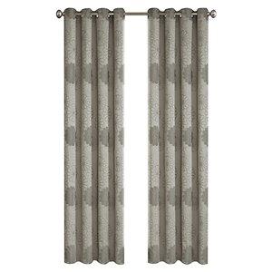 Panneau de rideau simple à anneaux Rolea par North Home, 96 po, gris argenté