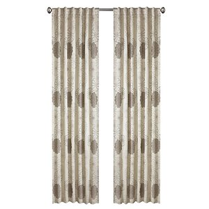 North Home Rolea Single Curtain Panel - Rod Pocket - 96-in - Silver Grey
