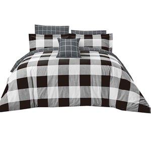Ensemble de housse de couette Dynasty de North Home pour très grand lit, 4 pièces