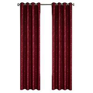 North Home Ivy Single Curtain Panel - Grommet - 96-in - Burgundy