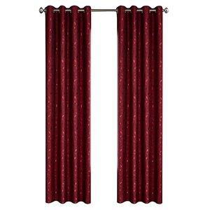 Panneau de rideau simple à anneaux Ivy par North Home, 96 po, bourgogne
