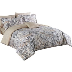 North Home Novah Queen Duvet Cover Set - 4-Piece