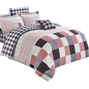 Ensemble de housse de couette Bari de North Home pour très grand lit, 4 pièces