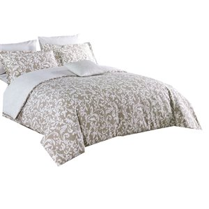 North Home Meaghan Queen Duvet Cover Set - 4-Piece