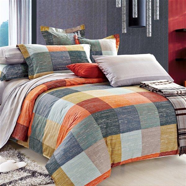 Ensemble de housse de couette Meridian de North Home pour très grand lit, 4 pièces