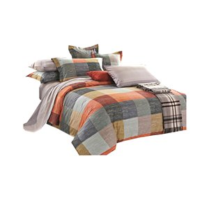 North Home Meridian King Duvet Cover Set - 4-Piece