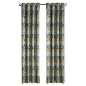 Panneau de rideau simple à anneaux Spencer par North Home, 96 po, vert basilic