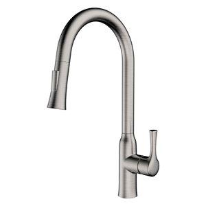 Jade Bath Parker Brushed Nickel 1-Handle Deck Mount Kitchen Sink Faucet