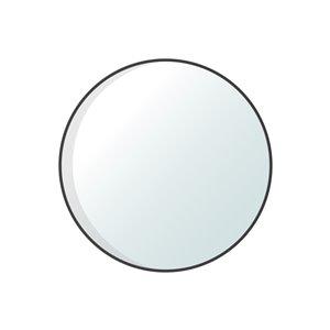 Jade Bath Dex Round Decorative Mirror - 30-in x 30-in - Matte Black