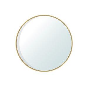 Jade Bath Dex Round Decorative Mirror - 30-in x 30-in - Brushed Gold