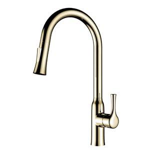 Jade Bath Parker Brushed Gold 1-Handle Deck Mount Kitchen Sink Faucet