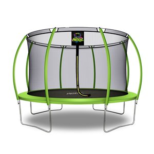 Moxie Round Outdoor Backyard Trampoline Set with Enclosure - 12.53-ft - Green