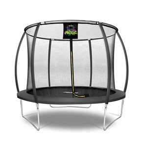 Moxie Round Outdoor Backyard Trampoline Set with Enclosure - 10.53-ft - Black