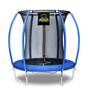 Moxie Round Outdoor Backyard Trampoline Set with Enclosure - 6.53-ft - Blue